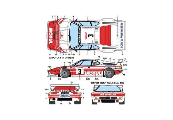 BMW M1 E26 Motul Coupe 1983