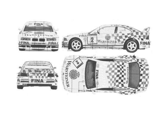 BMW M3 E36 GTR DTM Coupe 1990