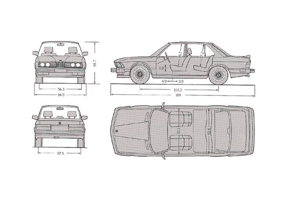 BMW M5 E28 Sedan 1985