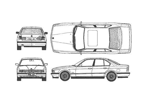 BMW M5 E34 Sedan 1989