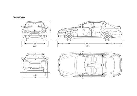 BMW M5 E60 Saloon Sedan 2007