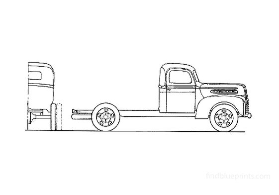 Ford 1 ton Chassis Truck 1946