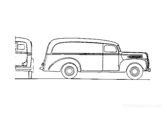 Ford 1 ton Panel Van 1946