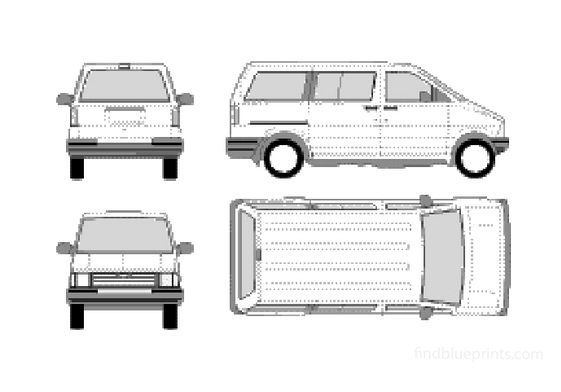 Ford Aerostar Wagon SWB Bus 1991