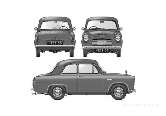 Ford Anglia 100E 2-door Sedan 1953