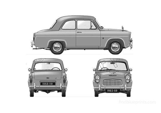 Ford Anglia 100E 2-door Sedan 1957