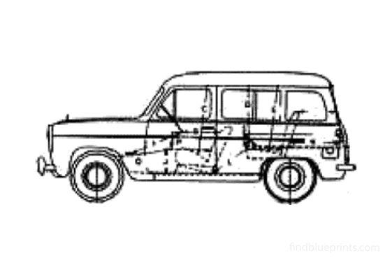 Ford Anglia 100E Estate Wagon 1956