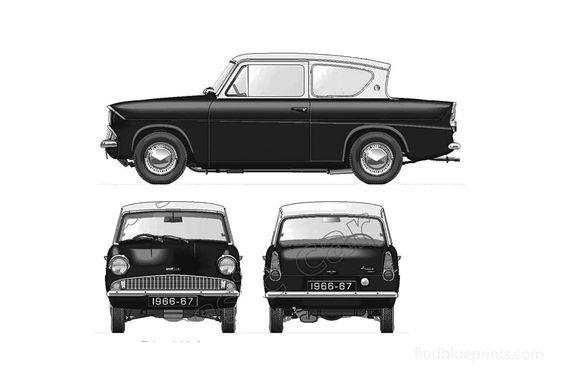 Ford Anglia 105E Sedan 1966