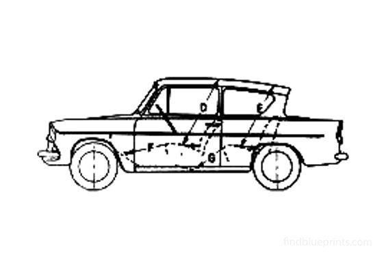 Ford Anglia 105E Sedan 1977