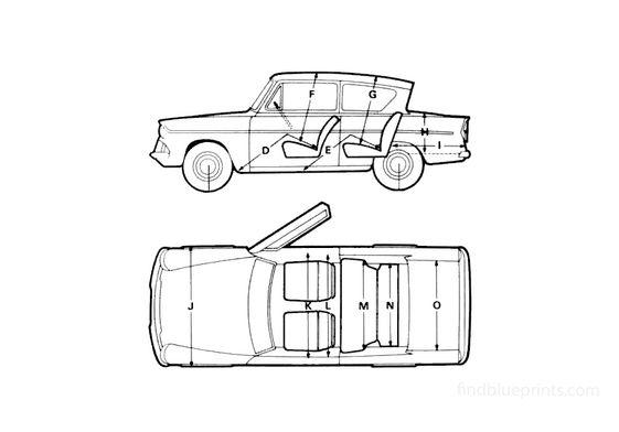 Ford Anglia 105E Saloon Sedan 1967