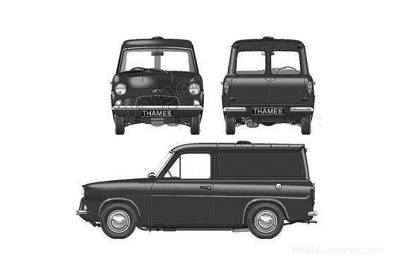 Ford Anglia 307E Thames 5CW Van 1961
