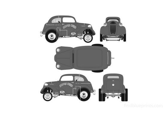 Ford Anglia Drag Sedan 1951