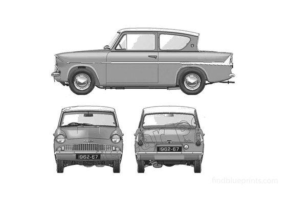 Ford Anglia Super 123E Sedan 1965