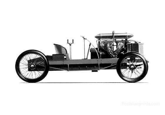 Ford Arrow Land Speed Rekord Car Cabriolet 1904