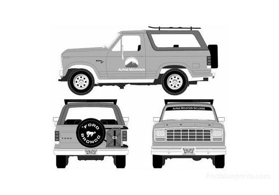 Ford Bronco SUV 1980