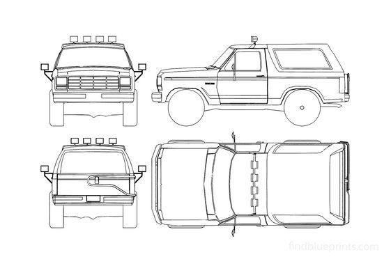 Ford Bronco SUV 1985