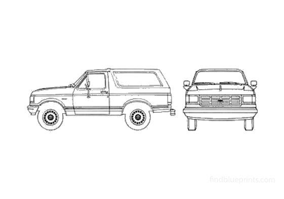 Ford Bronco SUV 1989