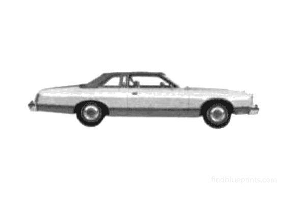 Ford Brougham Landau 2-door Hardtop Coupe 1975