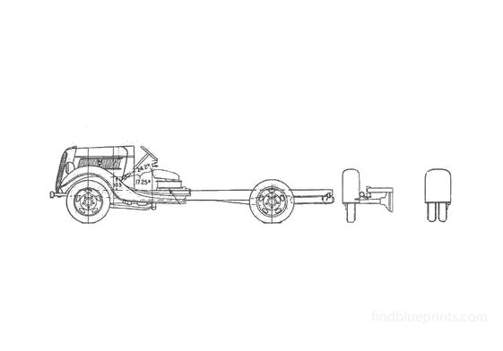 Ford Cab Chassis Truck 1937