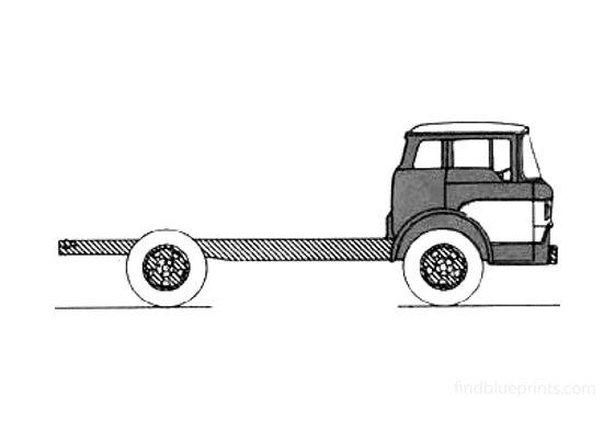 Ford Cab Forward Truck 1958