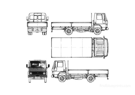 Ford Cargo 0609 Truck 1986