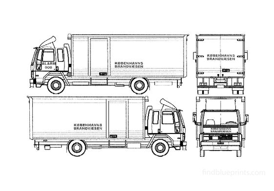 Ford Cargo 0815 Fire Truck 1990