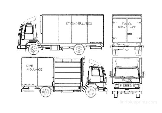 Ford Cargo 0912 Fire Truck 1981