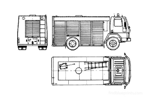 Ford Cargo 1011 Fire Truck 1982