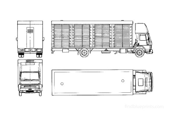 Ford Cargo 1115 Truck 1986
