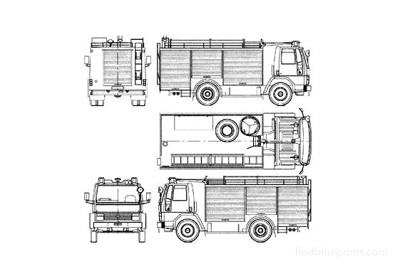 Ford Cargo 1117 Fire Truck 1983