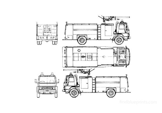 Ford Cargo 1418 Fire Truck 1985