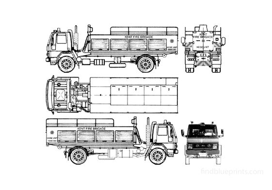 Ford Cargo 1617 Fire Truck 1986