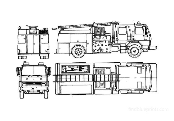 Ford Cargo 1618 Fire Truck 1985