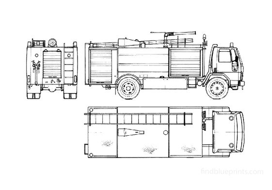 Ford Cargo 1620 Fire Truck 1985
