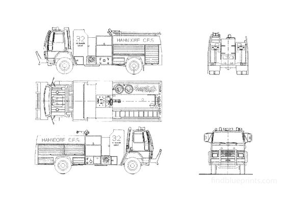 Ford Cargo 1621 Fire Truck 1986