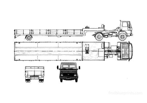 Ford Cargo 1713 Trailer Truck 1986