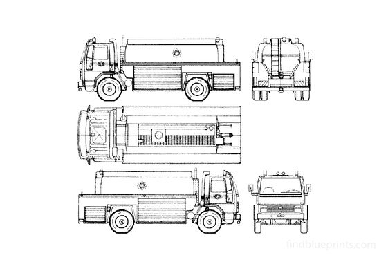 Ford Cargo 1721 Fire Truck 1991