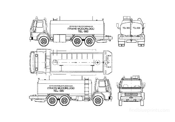 Ford Cargo 2114 Fire Truck 1985