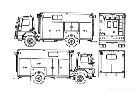 Ford Cargo CF6000 Fire Truck 1985