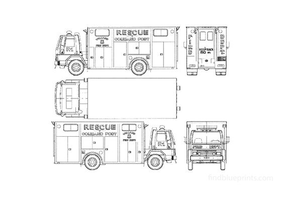 Ford Cargo CF6000 Fire Truck 1987