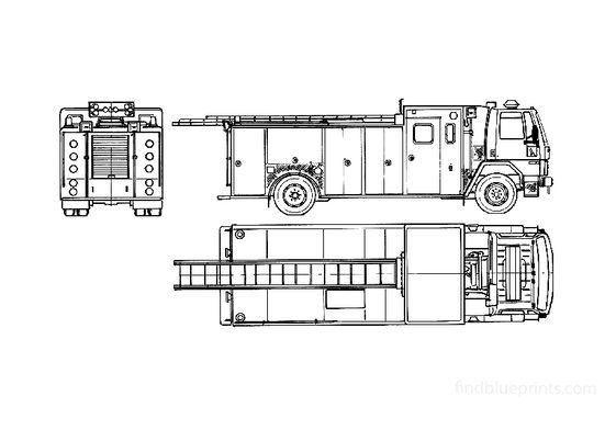 Ford Cargo CF6000 Fire Truck 1989