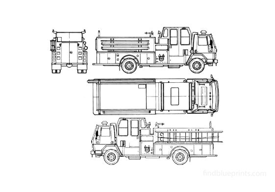Ford Cargo CF6000 Fire Truck 1990