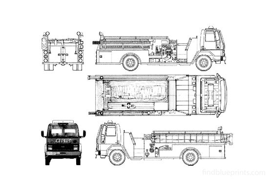 Ford Cargo CF7000 Fire Truck 1986