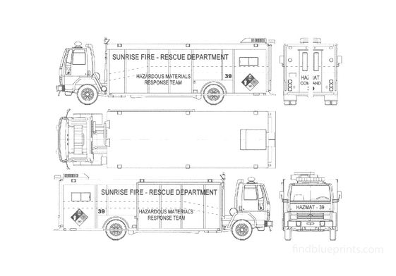 Ford Cargo CF8000 Fire Truck 1988