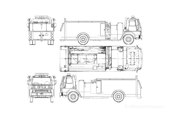 Ford Cargo CF8000 Fire Truck 1989