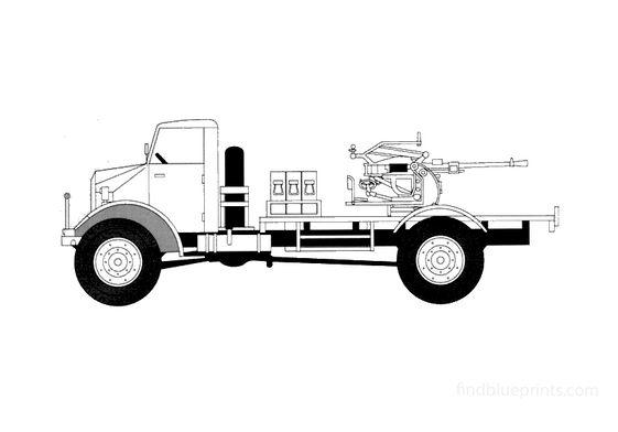 Ford CMP-60L 20mm Breda Truck 1941