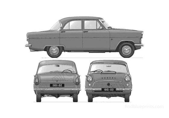 Ford Consul 375 204E Sedan 1961