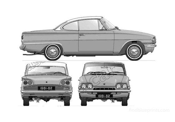 Ford Consul Capri 109E Coupe 1961