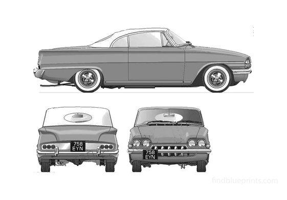 Ford Consul Capri Classic Custom Coupe 1962