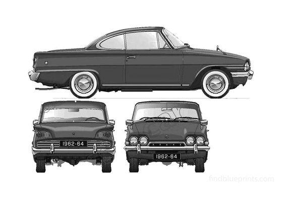 Ford Consul Capri GT 116E Coupe 1962